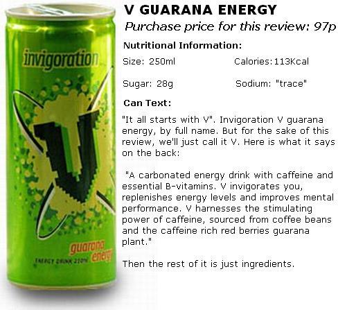 V Guarana Energy - Inspired By Caffeine